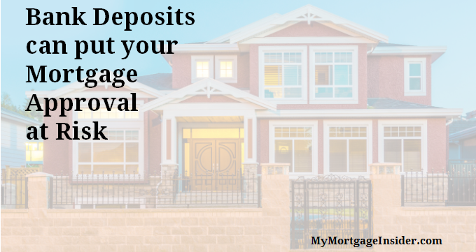 Large bank deposits and your mortgage application
