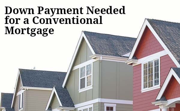 Conventional mortgage down payment