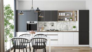 Sunny apartment kitchen