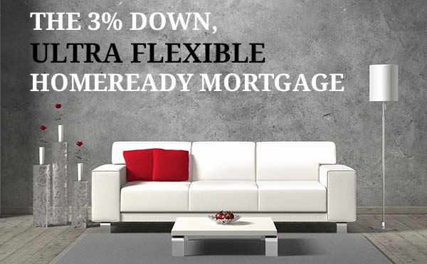 Using the 3% down homeready mortgage program to buy a home