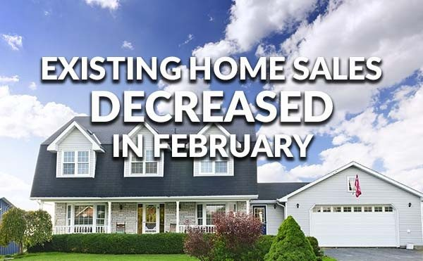Existing home sales February 2016