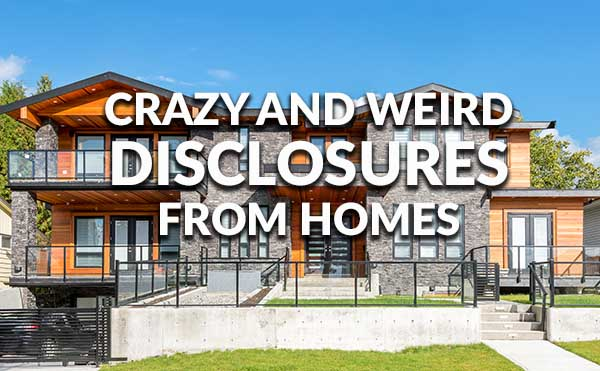 Crazy and weird disclosures home buying 2017