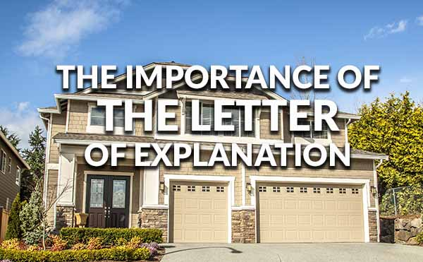Understanding The Letter Of Explanation
