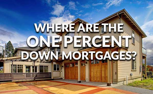 Whatever Happened To Mortgages With One Percent Down?