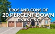 pros and cons of 20 down financing