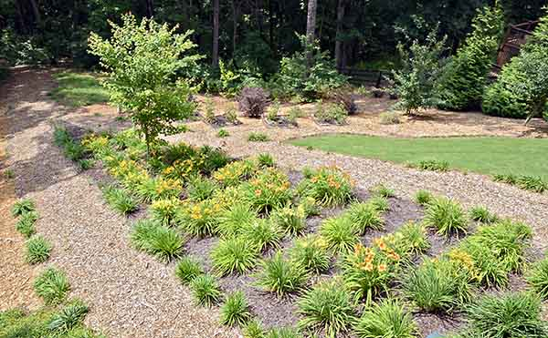 Home landscaping ideas for a sloping yard